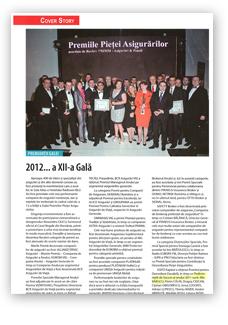 Cover Story Gala Premiilor Pieţei Asigurărilor 2012 - 1