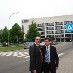Haga - 2009, cu Dan Huszti, Training Manager AEGON