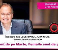 """John Gray, autorul bestseller-ului """"Bărbații sunt de pe Marte, Femeile sunt de pe Venus"""", vine în România"""